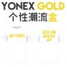 Yonex shirt - Yonex Gold, black (custom print)