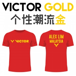 Victor shirt - Victor Gold, Red (custom print)