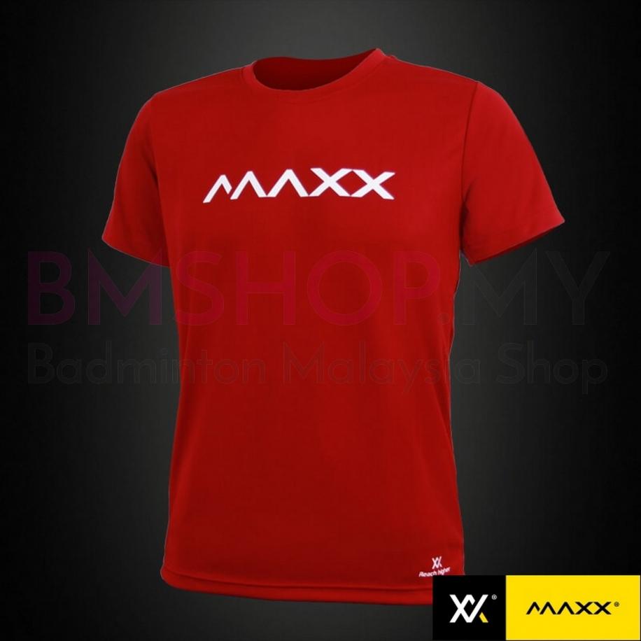 MAXX Shirt Plain Tee MXPT008 Wine Red