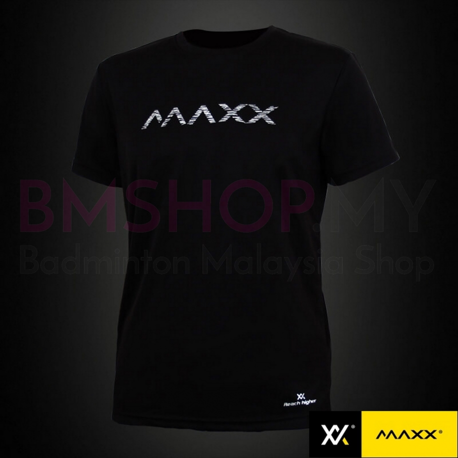 MAXX Shirt Plain Tee MXPT015 V3 Black Silver