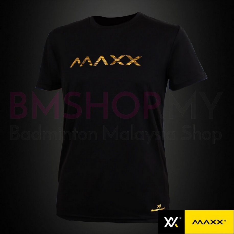 MAXX Shirt Plain Tee MXPT015G V3 Black Gold