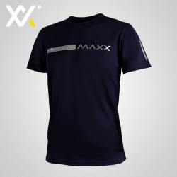 MAXX Shirt Fashion Tee MXFT050 Navy Silver