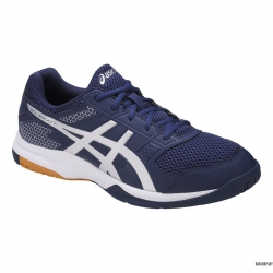 Asics Shoe Gel-Rocket 8 B706Y-4993 (Indigo Blue/Silver/White)