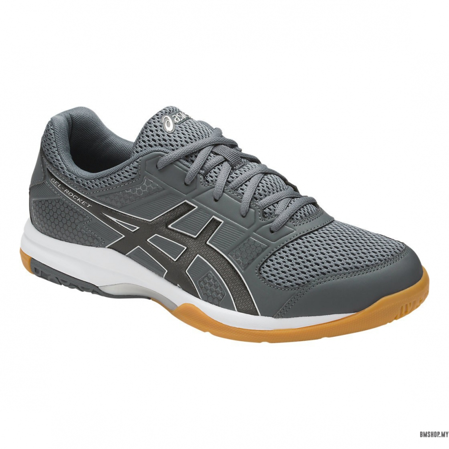 78cd059acd7d Asics Shoe Gel-Rocket 8 B706Y-9790 (Carbon Black Silver) - BMSHOP.MY