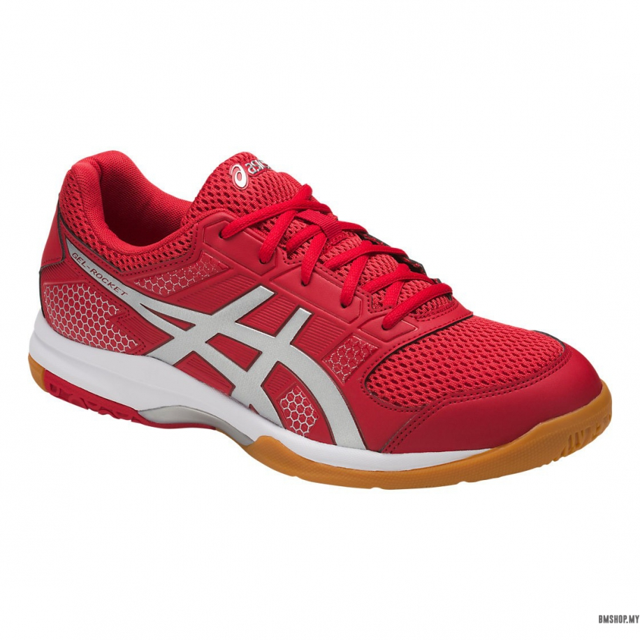 Asics Shoe Gel-Rocket 8 B706Y-2393 (Prime Red/Silver/Wine)
