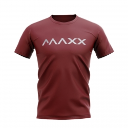 MAXX Shirt New Plain Tee MX-NV08 Wine Red