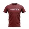 MAXX Shirt New Plain Tee MX-NV08 Wine Red