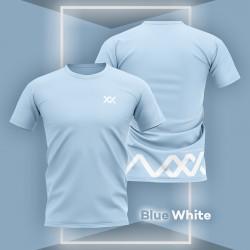MAXX Shirt Fashion Tee MXGT042 Light Blue White