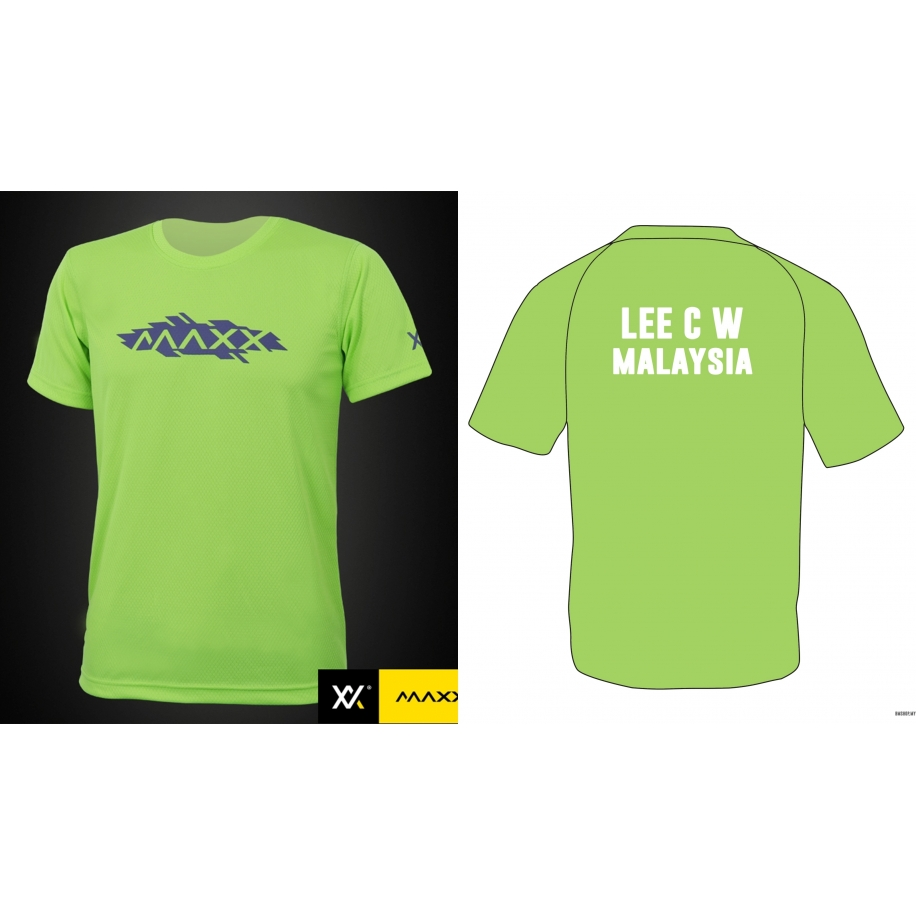 MAXX Shirt Plain Tee V8 with Shirt Printing Name and Team